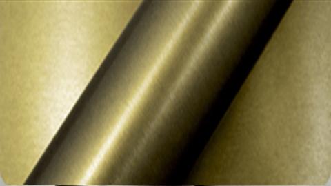 podglad na folię Arlon CWC-604BR Brushed Army Gold - Zloty Szczotkowany